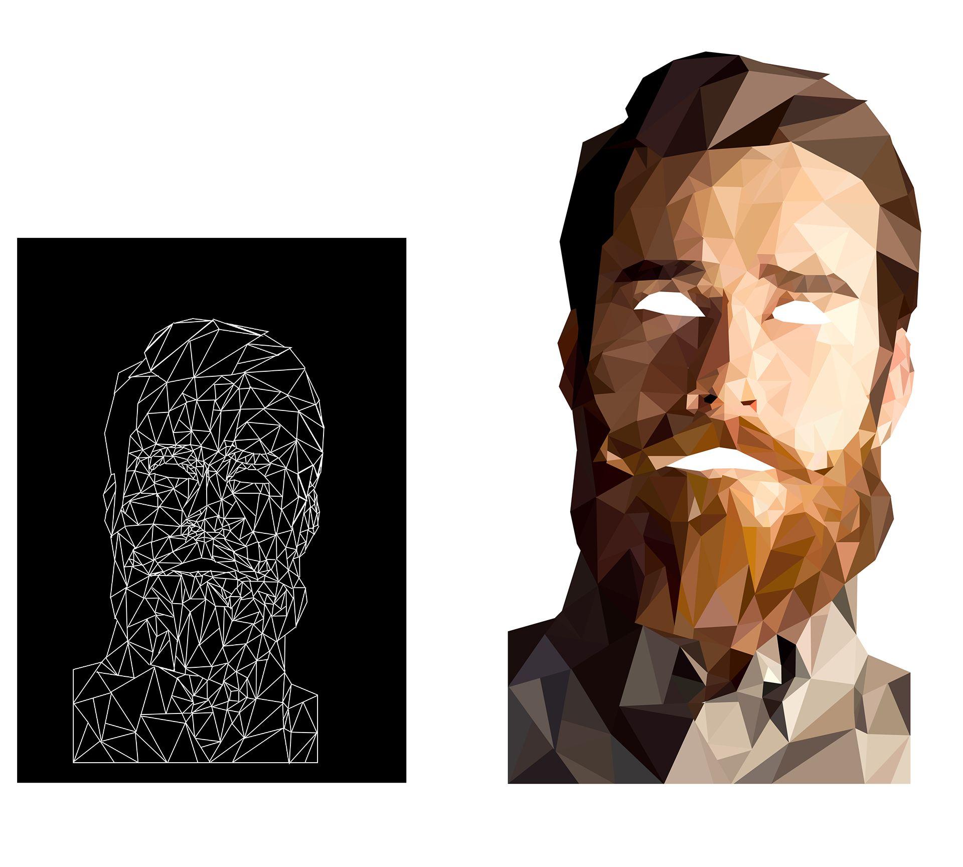 Inicio de um Infográfico desenvolvido apenas em Poly Art by Ygor Batista