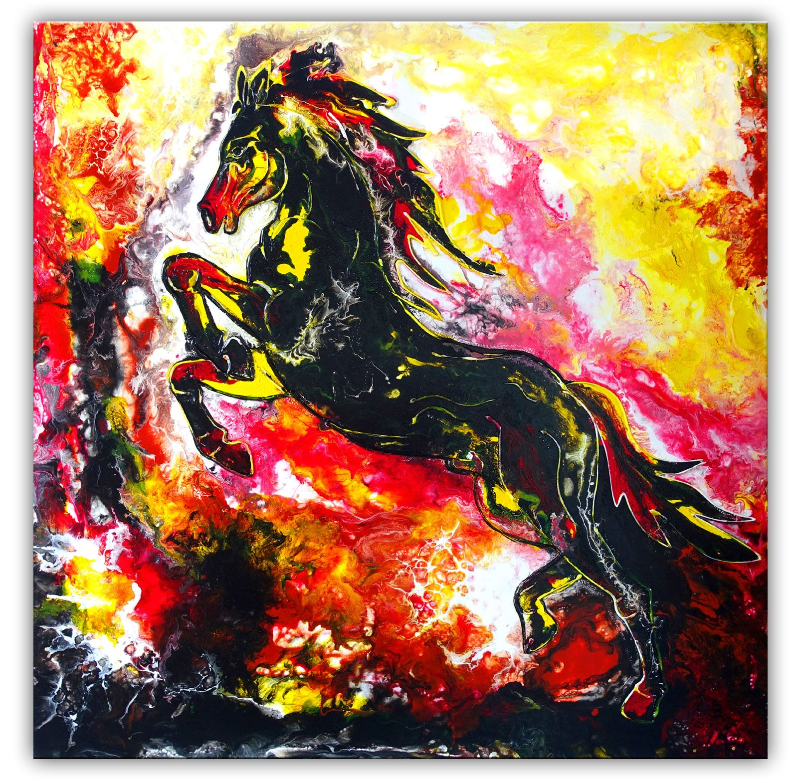 Pferdebild Pferd Gemalde Hengst Abstrakt Gemalt Original Gemalde