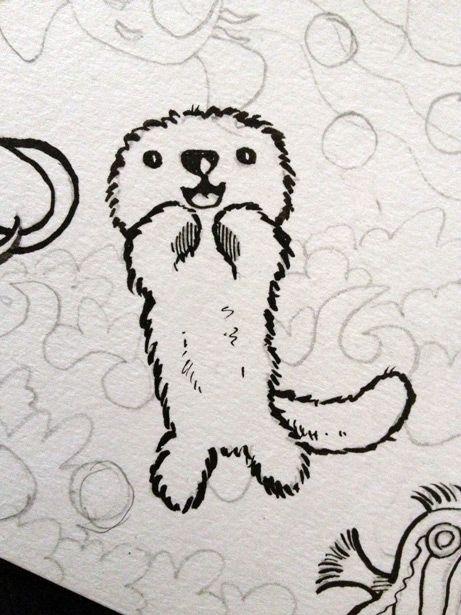 Sea Otter Cartoon Google Search Tattoos Otter Cartoon Otters