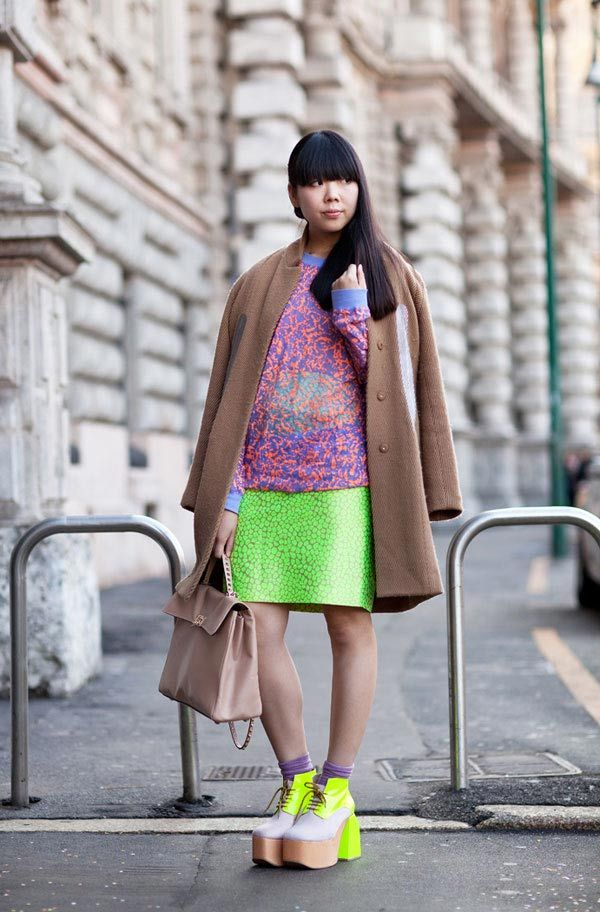 Susie Bubble is amazing - love her fearlessness in neon
