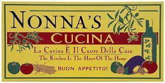 Gentil Nonnau0027s Cucina #3 Italian Wall Plaque   An EXCLUSIVE Wood Italian Sign!