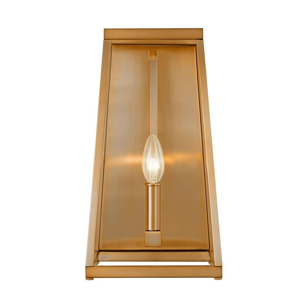 Feiss Conant 1-Light Gilded Satin Brass Wall Sconce   Wall ...
