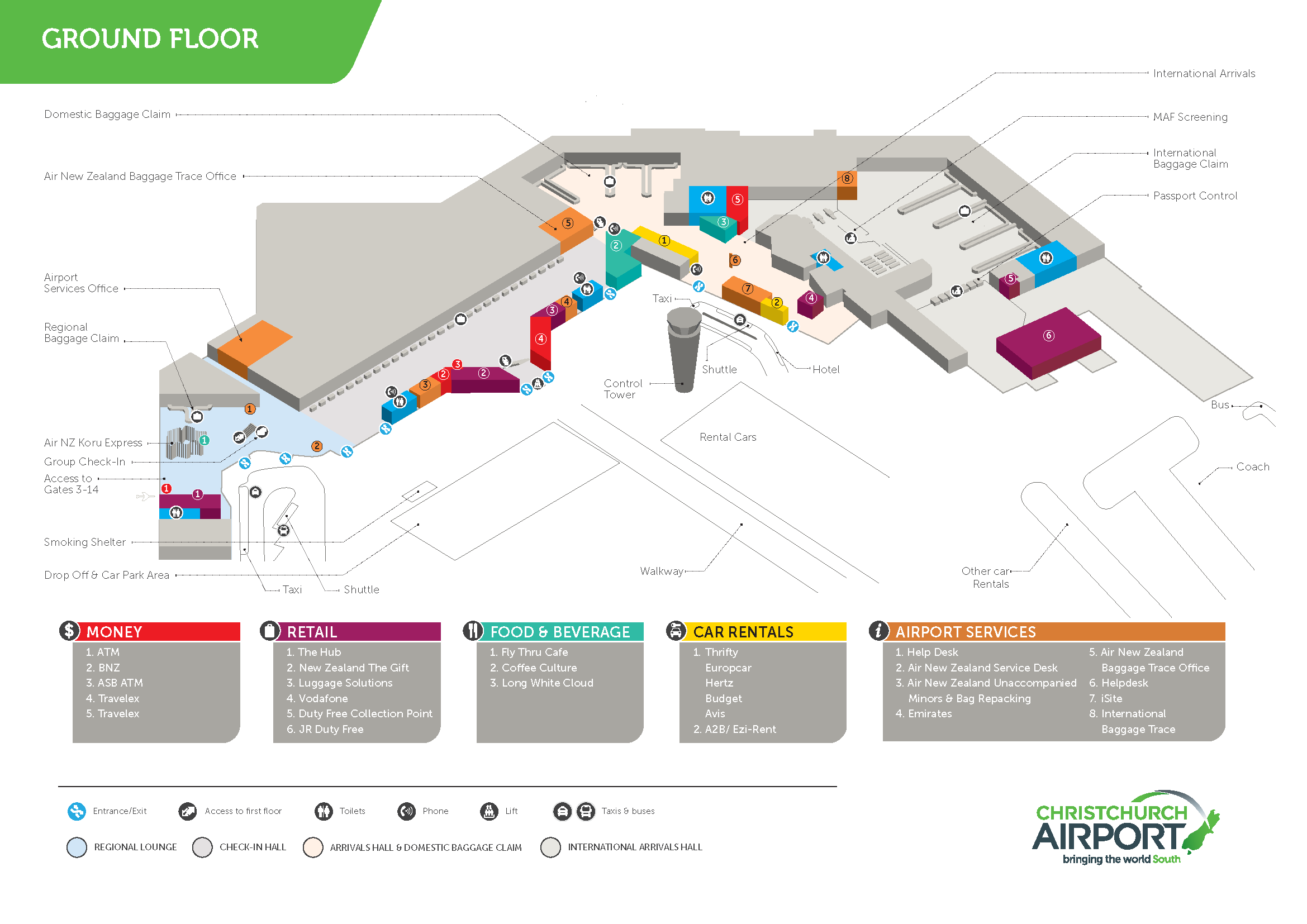 Cial A4 Terminal Map Ground Floor A4 2013 3d 2339 1654 Infographics Maps Pinterest