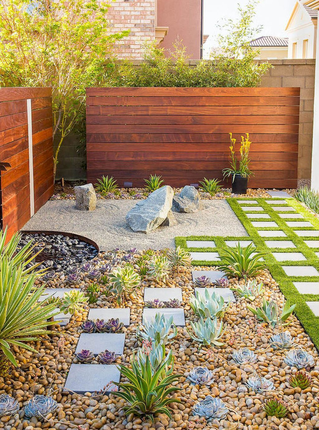 Beautiful Front Yard Rock Landscaping Ideas