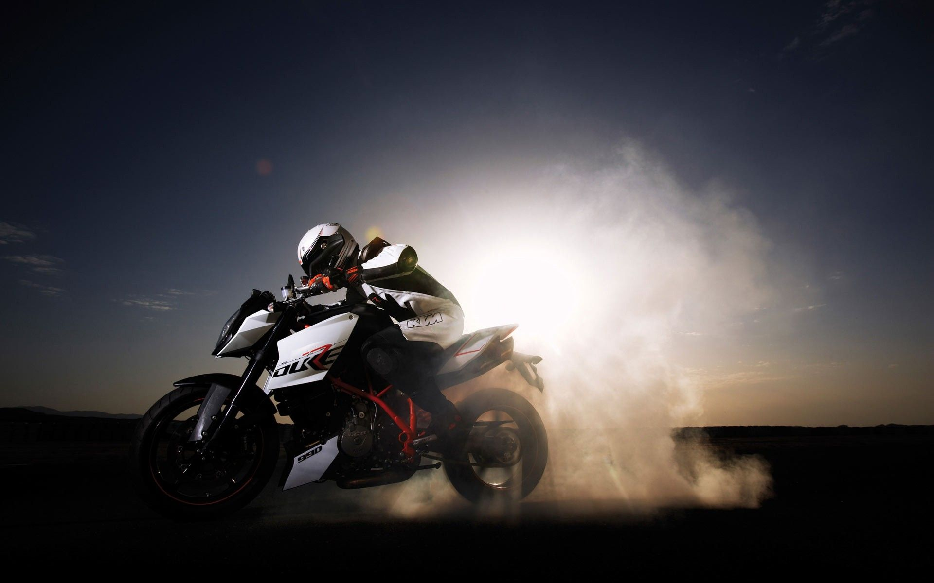 Ktm Duke 990 Burnout Wallpaper Hdwallpaperfx Pinterest