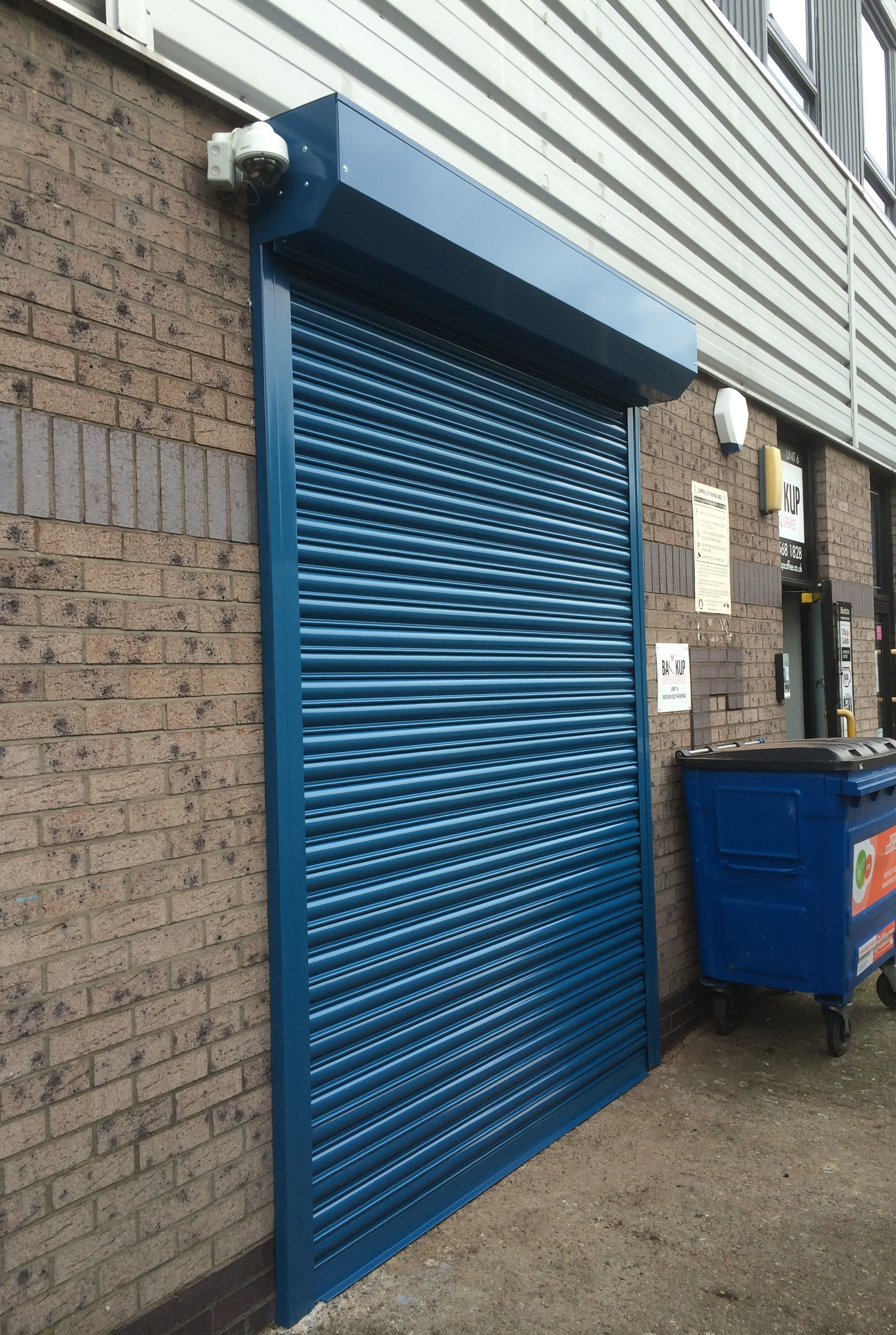 Rsg5000 Security Roller Shutter Fitted To The Back Entrance Of A Coffee Shop In Middlesex Front Gate Design Painting Shutters Roller Shutters