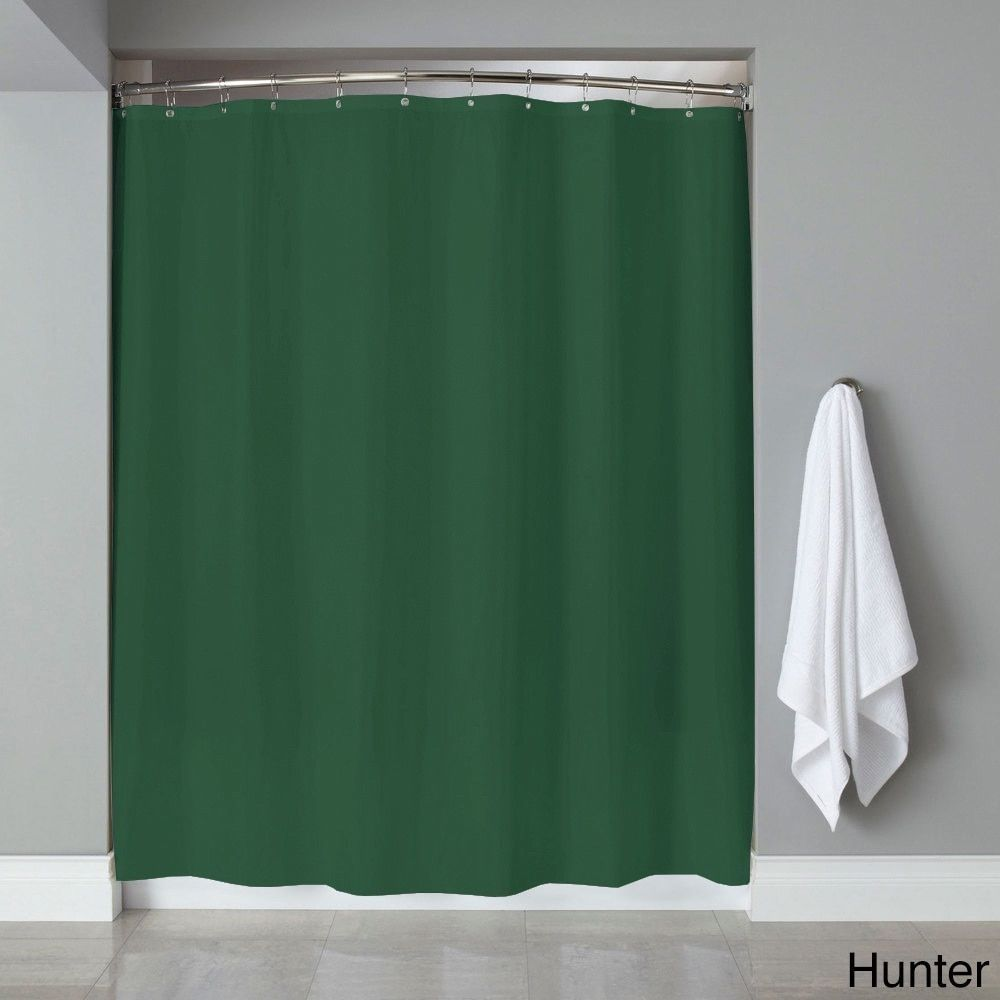 Hunter Green Shower Curtain Liner Pertaining To Dimensions 1000 X