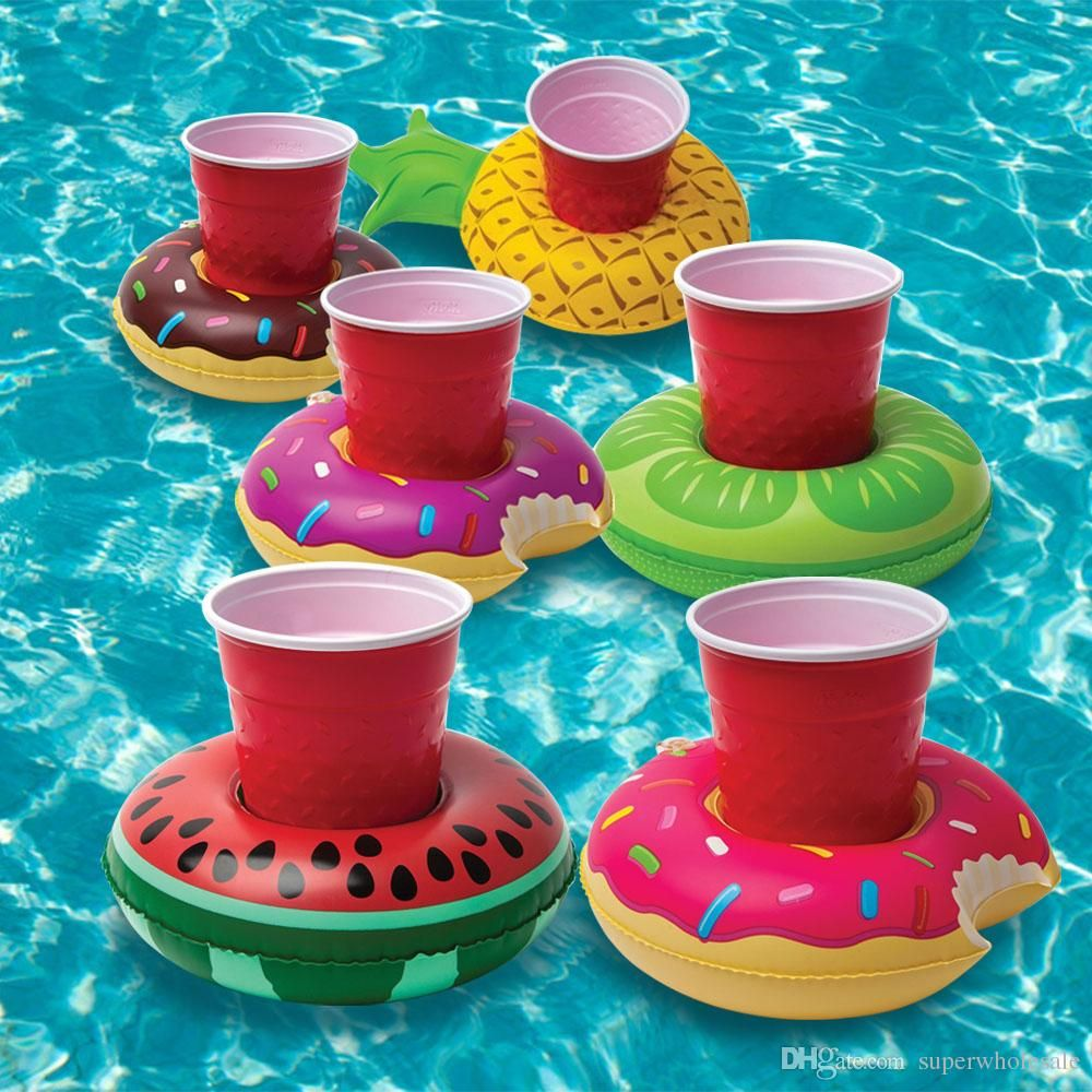 Inflatable Floating Drink Cooler With Cup Holders