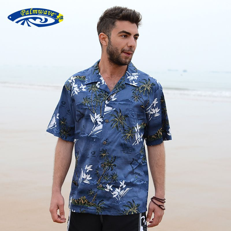 Men Short Sleeve Casual Printed T Shirts Holiday Beach Fancy Dress Top Blouse US