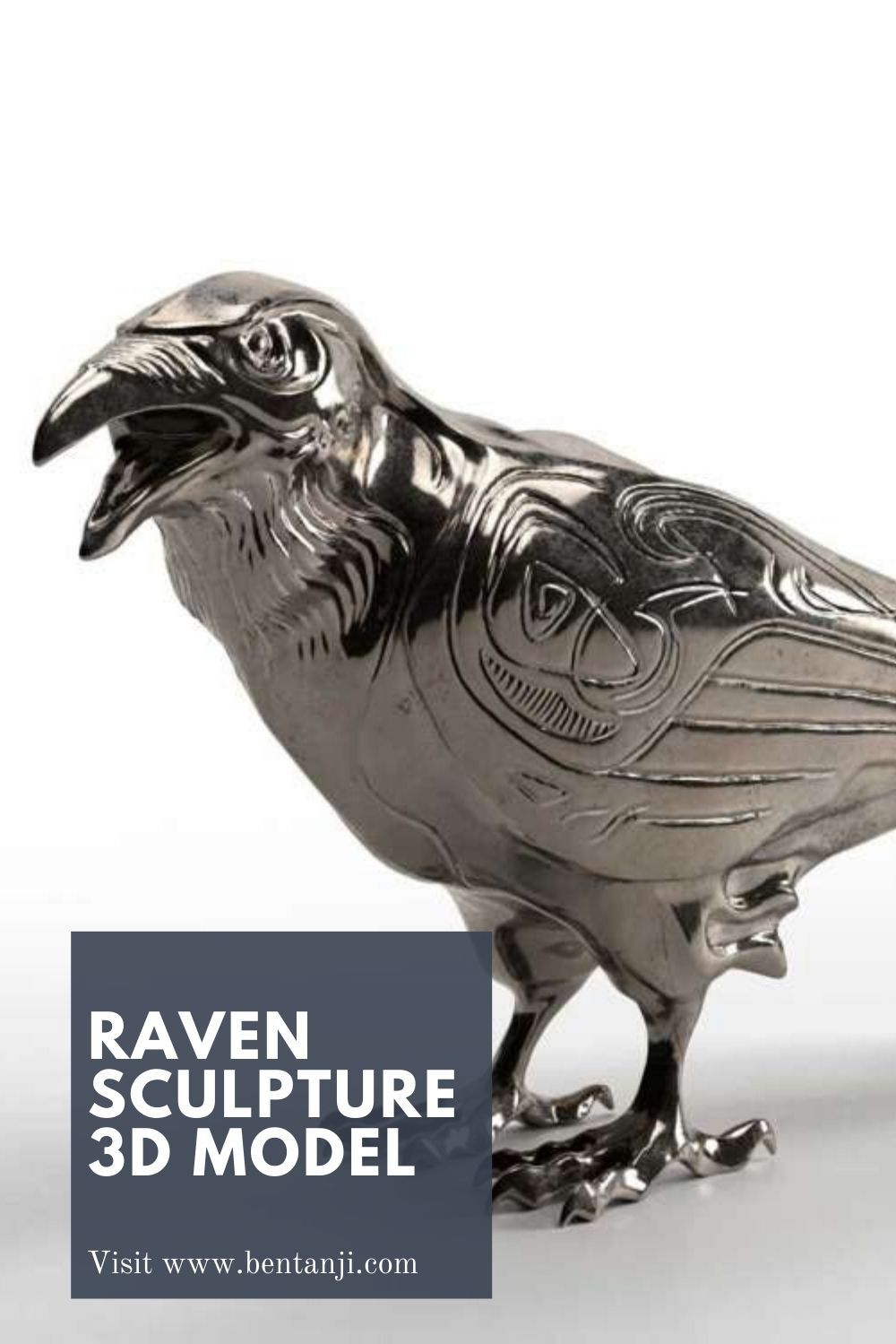 Raven sculpture 3d model by Bentanji in 2020 Sculpture