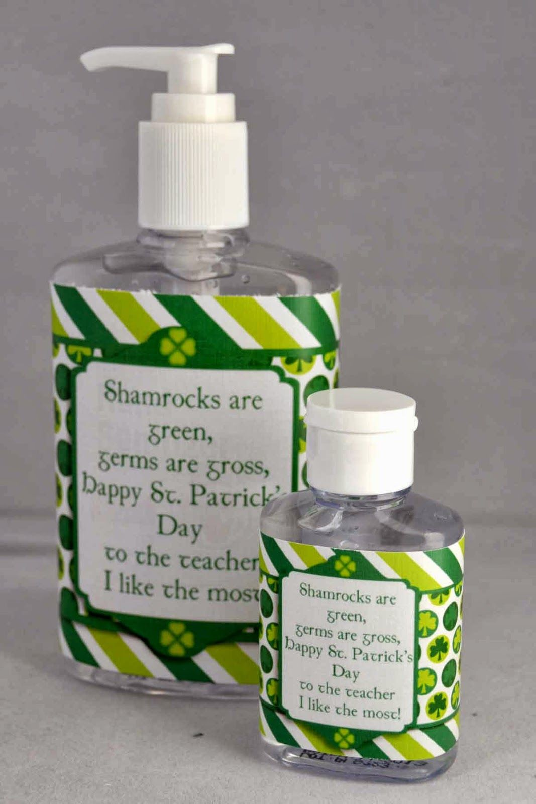 St Patrick S Day Printable Hand Sanitizer Wrapper Perfect For Teachers The Saying Is Perfect