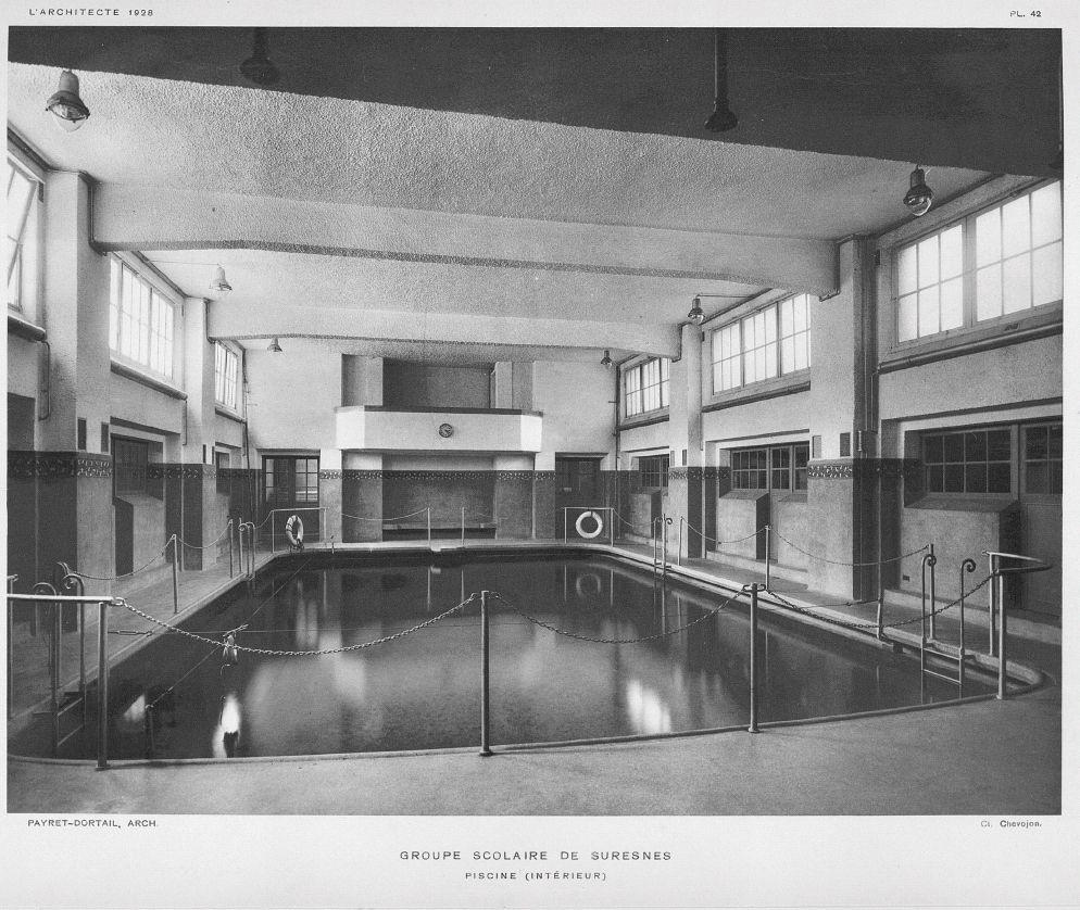 Piscine du lyc e paul langevin suresnes 1927 piscines - Piscine municipale suresnes ...