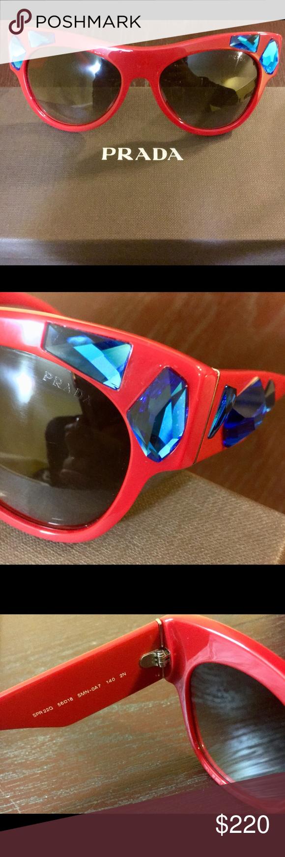 15848f69f7c ... uk new red prada cat eye sunglasses new authentic prada sunglasses women  cat eye spr 22q