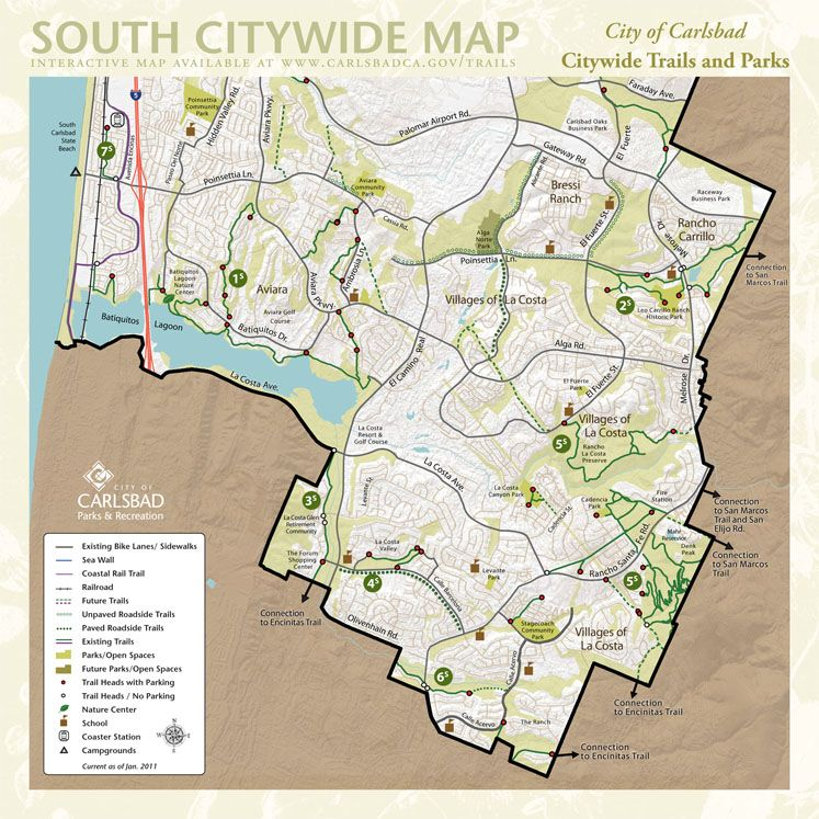 City of Carlsbad Citywide Trails Map South Good Ideas