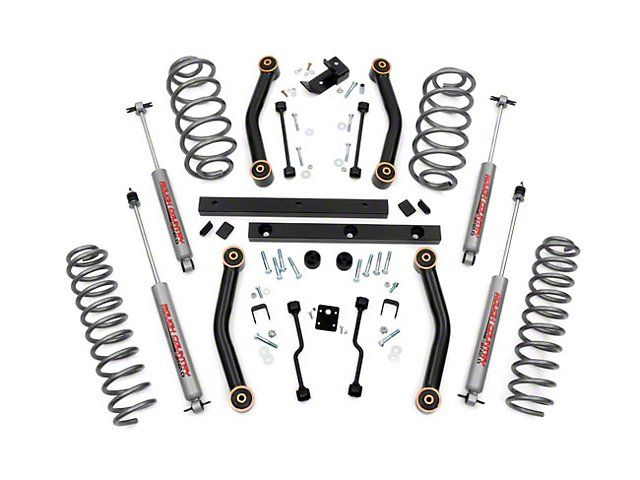 Rough Country 4 Inch Lift Kit w/ Shocks (97-02 Jeep