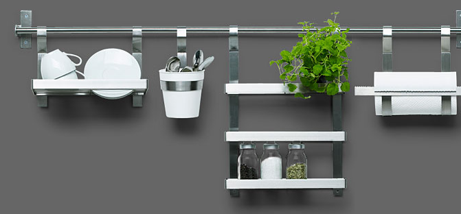 Grundtal Kitchen Series Probably The Most Well Know Wall Storage Rail System Is One From Ikea Pot Rack Shelves Are Pretty Terrific Too