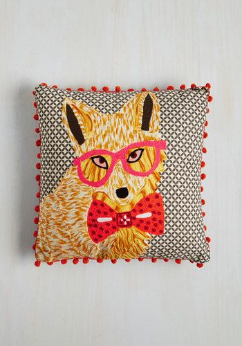 Its Certainly A Treat To Greet The Fun Fella On This Karma Living Pillow  Each Time You Arrive At Home!