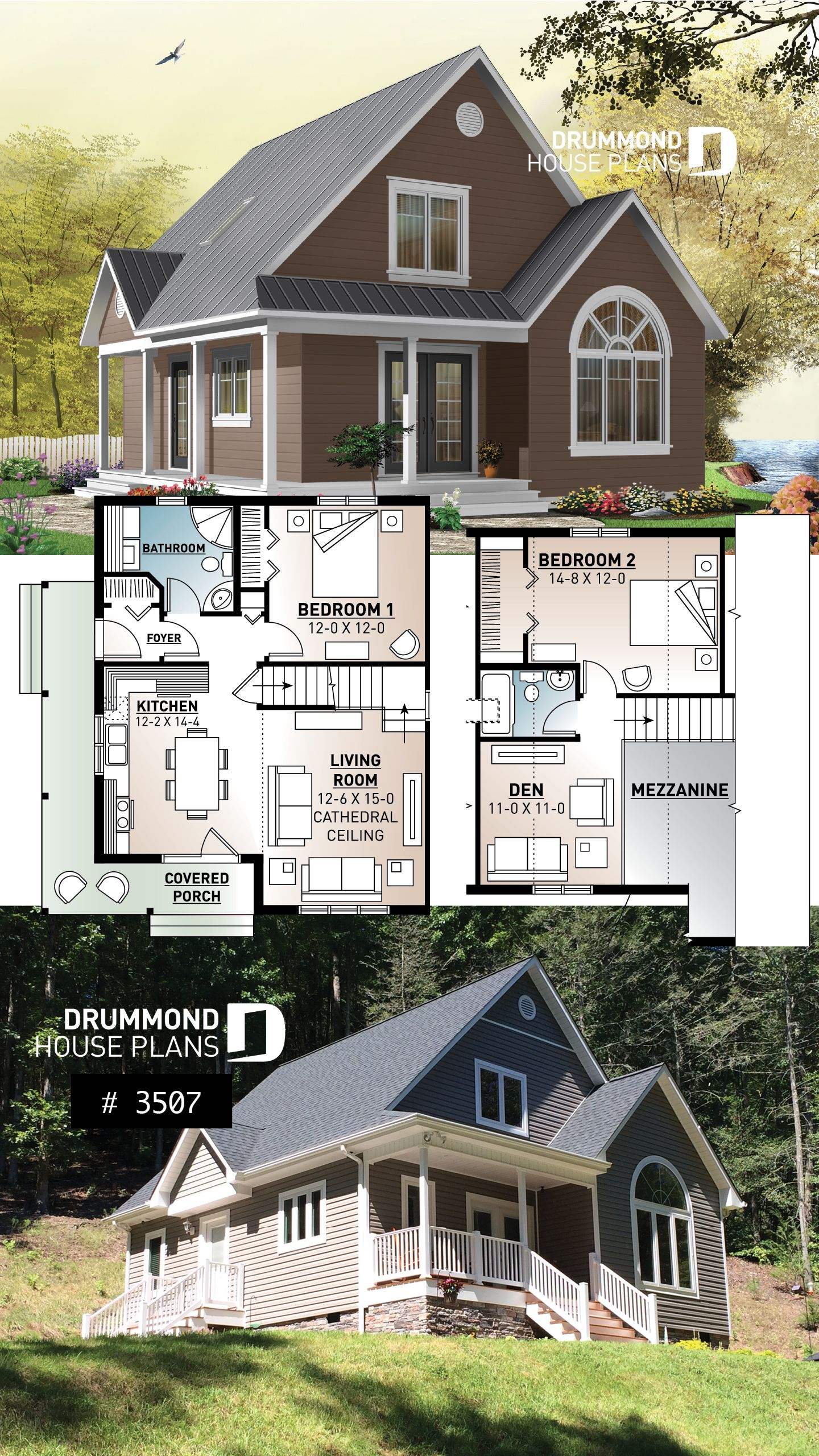 Discover The Plan 3507 Celeste Which Will Please You For Its 2 3 Bedrooms And For Its Country Styles Traditional House Plans Sims House Plans Cottage House Plans