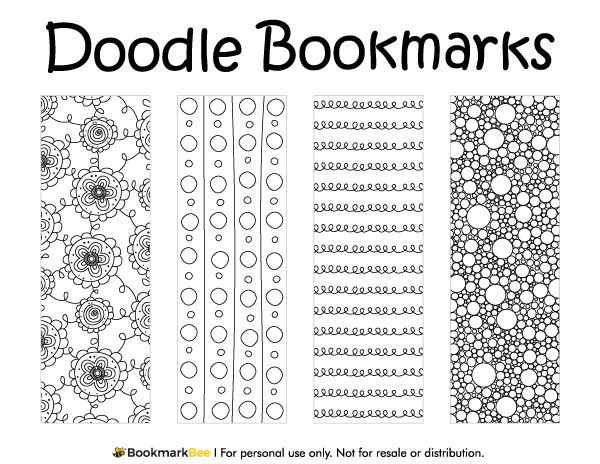 Free printable doodle bookmarks download the pdf template at http free printable doodle bookmarks download the pdf template at httpbookmarkbee pronofoot35fo Gallery