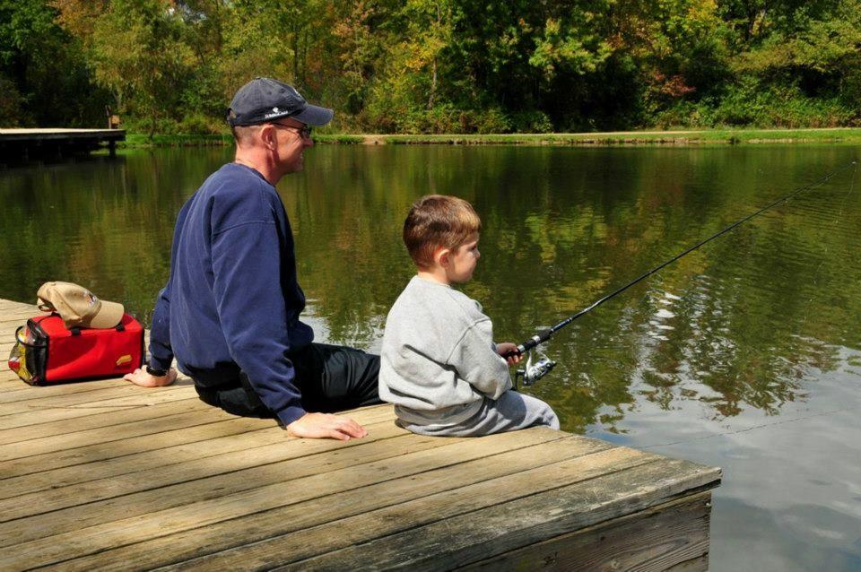 Fishing firestone metro park little turtle pond akron for Fishing ponds columbus ohio