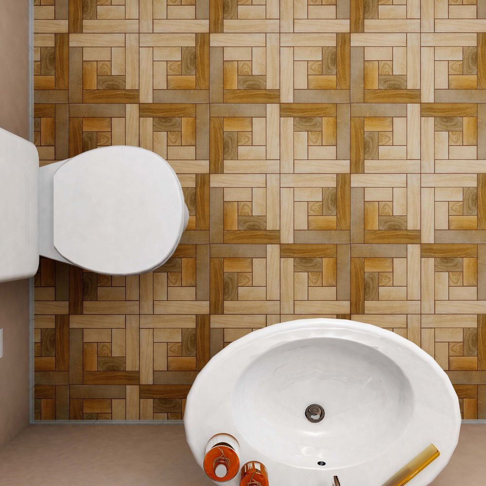 Commercial Kitchen Wall Tile: This Tile Has A Wood-look Spiral Pattern That Creates A