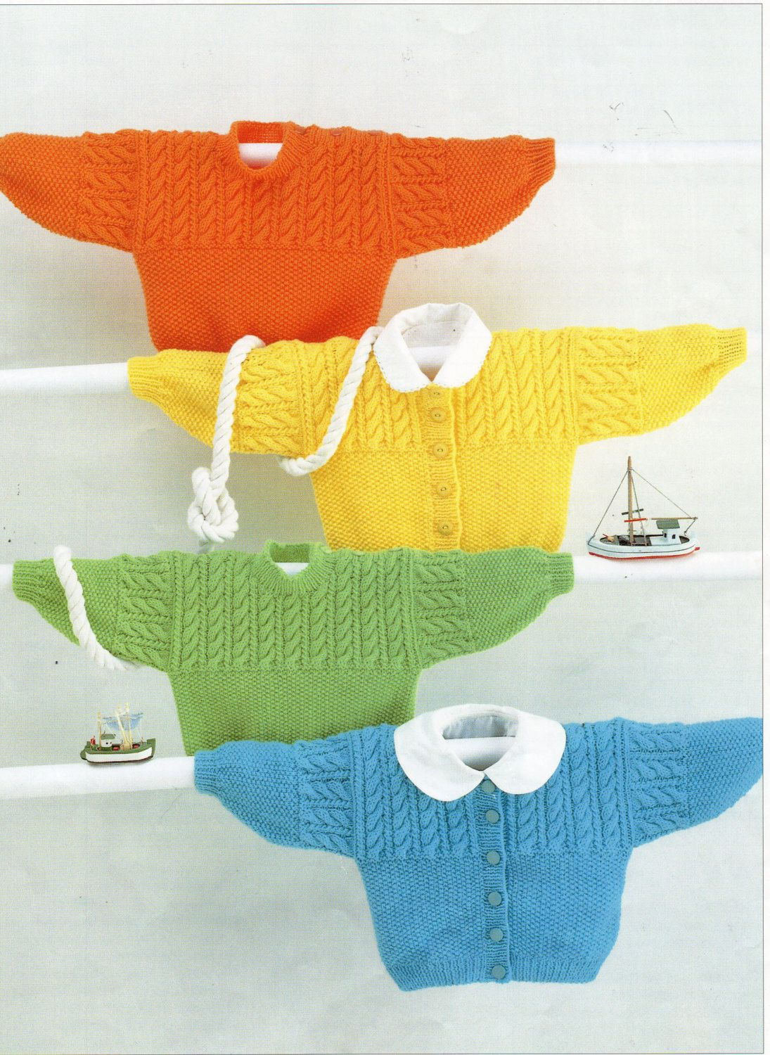 baby toddler childrens sweater & cardigan knitting pattern cable ...