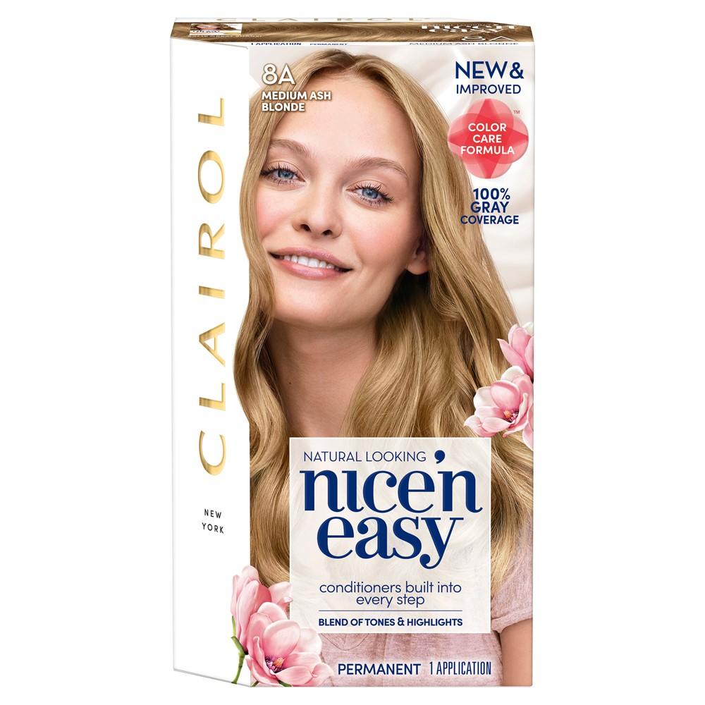 Clairol Nice N Easy Permanent Hair Color 8a Medium Ash Blonde