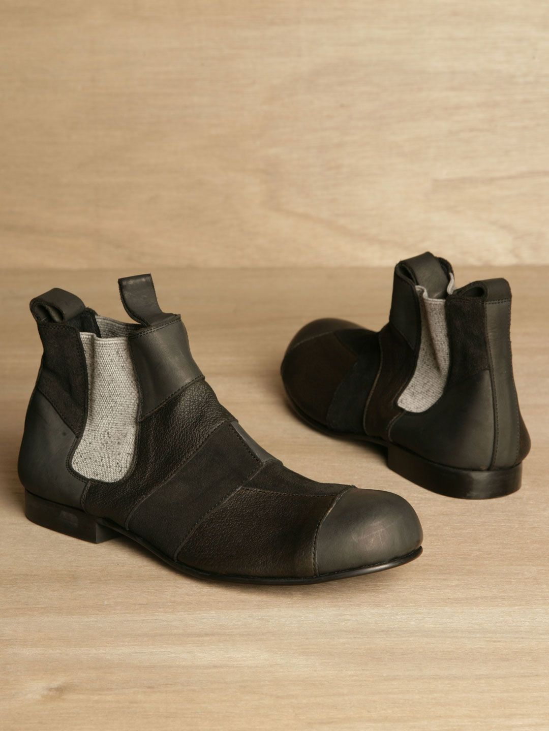 Comme des Gar?ons Homme Plus men's Patchwork Chelsea Boots from A/W 11  collection in