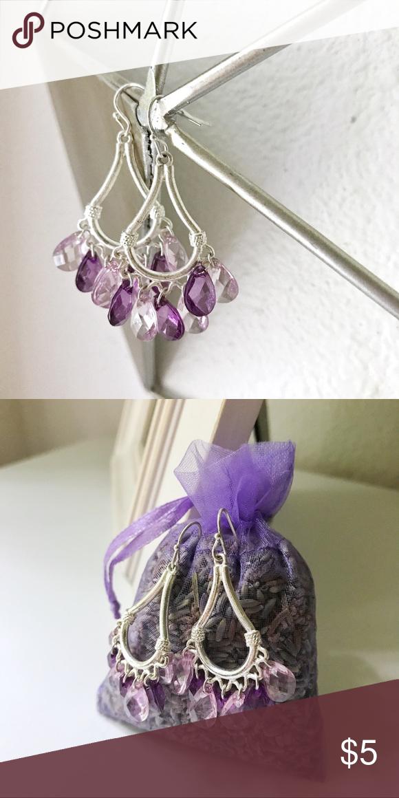 Purple Chandelier Earrings - Costume Jewelry   Purple chandelier ...