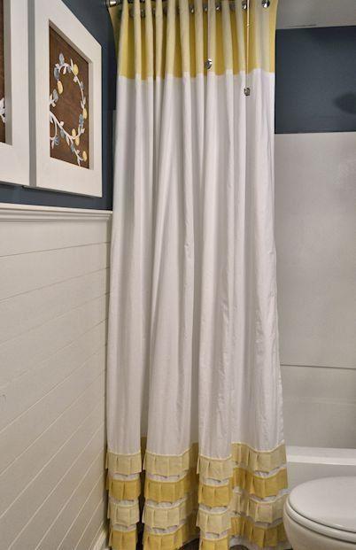 Como hacer cortinas de ba o de tela cortinas pinterest - Como confeccionar cortinas ...