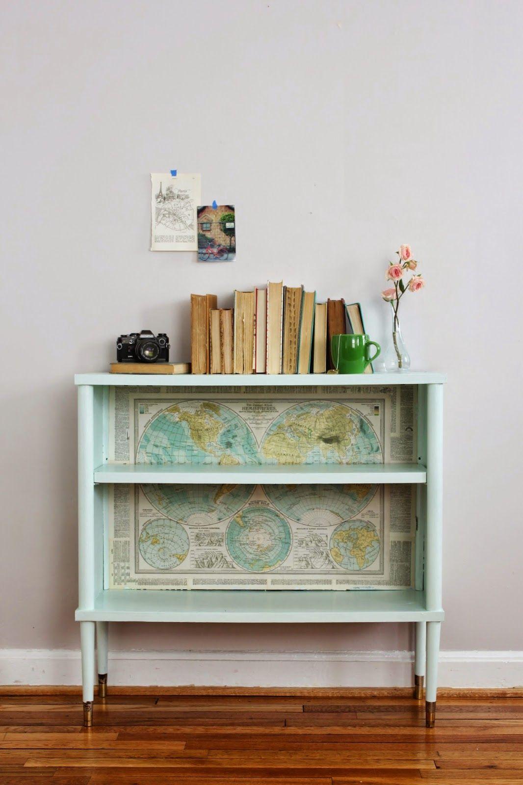 Mapping Decoupage Furniture Furniture Makeover Furniture Makeover Diy