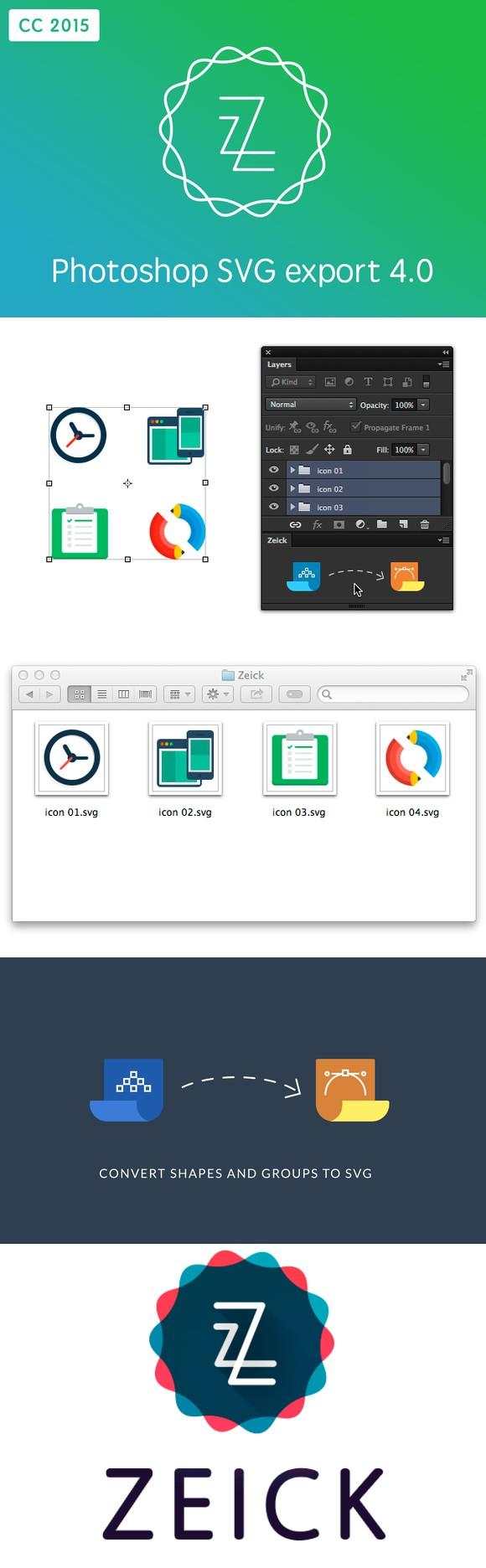 Zeick CC 2015 SVG export. Plugins. 20.00