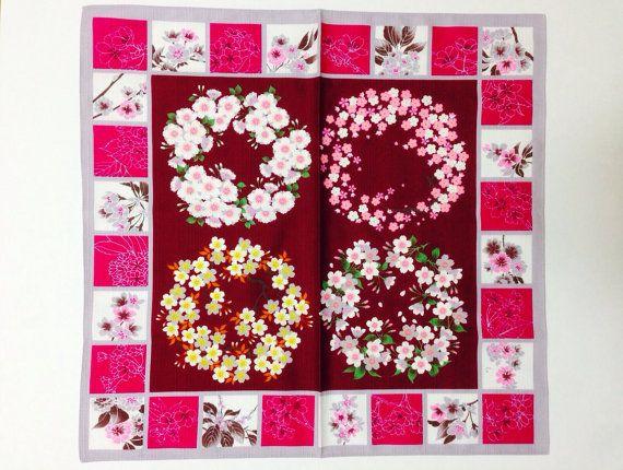 Furoshiki, Sakura  fabric, wrapping cloth, Japanese fabric, cotton fabric,  Sakura  tapestry, Sakura gift, Japanese bag cloth on Etsy, ¥1,063.83