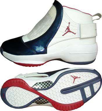 011959b66cb533 DZdw5G8 Nike Air Jordan 19 White SlateBlue Red Mens Retro Shoes ...