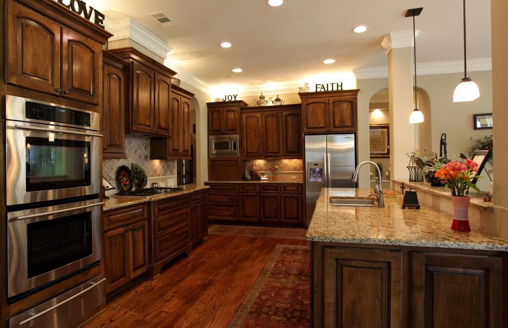 cherry kitchen cabinets with dark wood floors rachel and chris 39 new house pinterest cherry. Black Bedroom Furniture Sets. Home Design Ideas