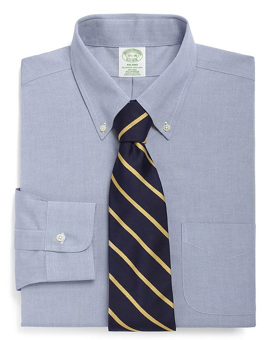 Brooks Brothers tie and dress shirt.