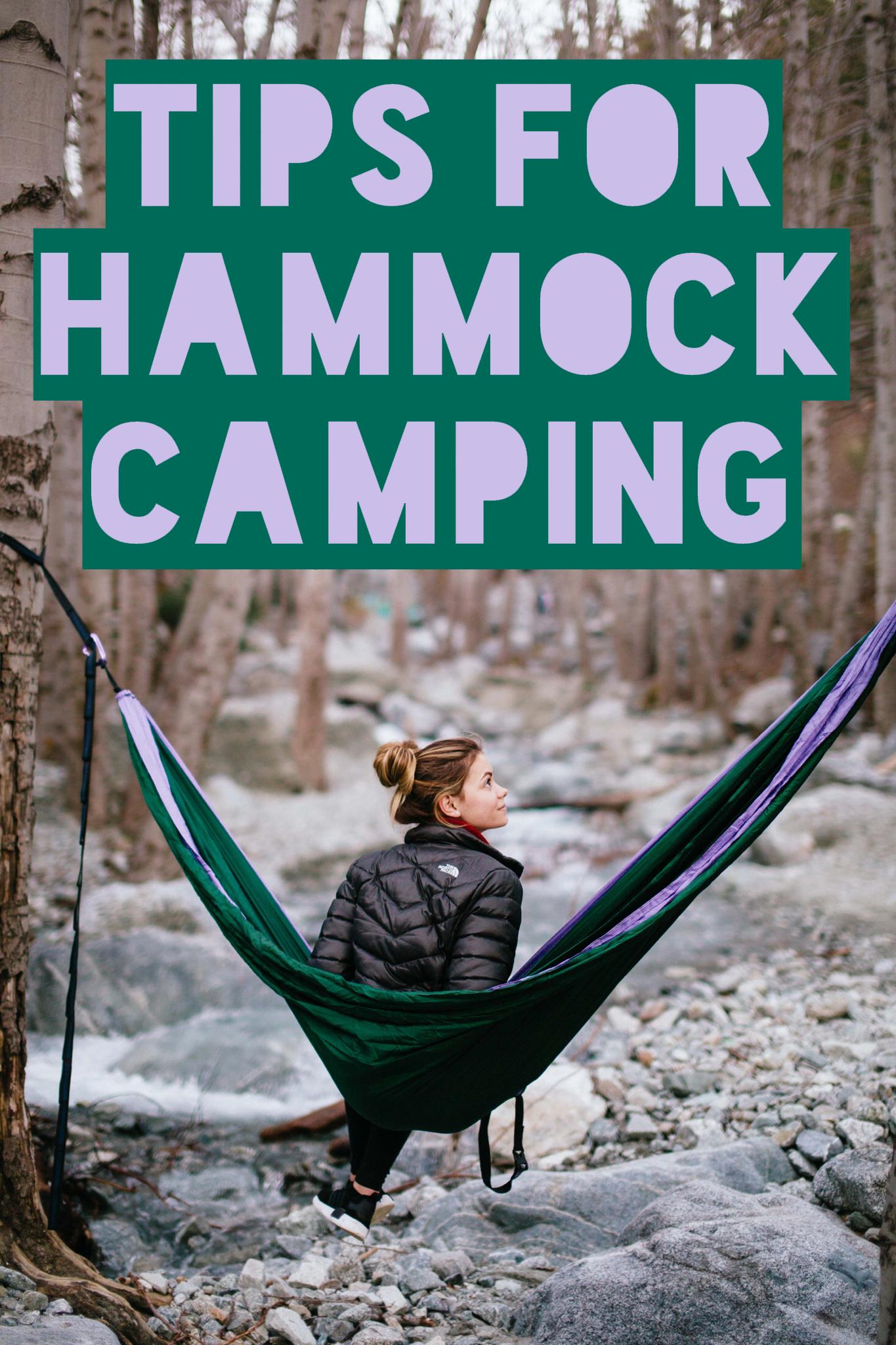 tips for hammock camping hiking pinterest camping