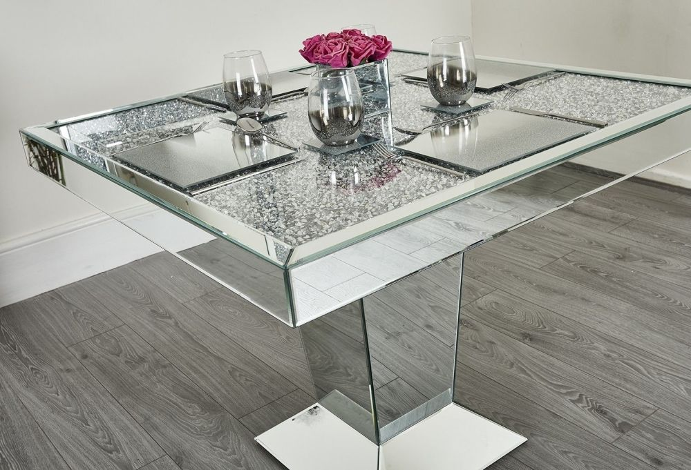 Pin By Kimberly Lockett On Mirrors Mirrored Furniture Dining Table Mirrored Furniture Decor
