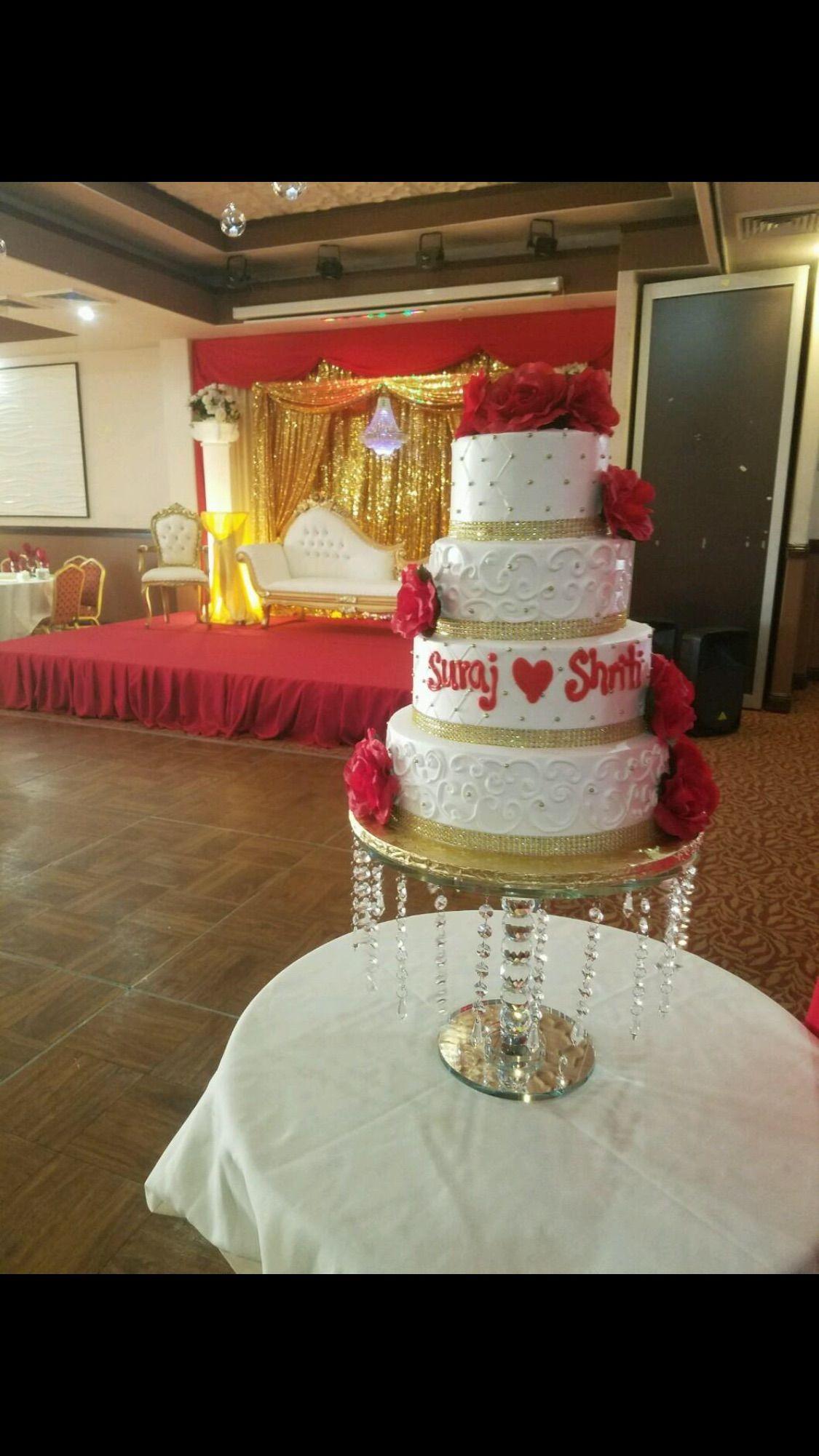 Red wedding cake visit us facebookmarissascake or
