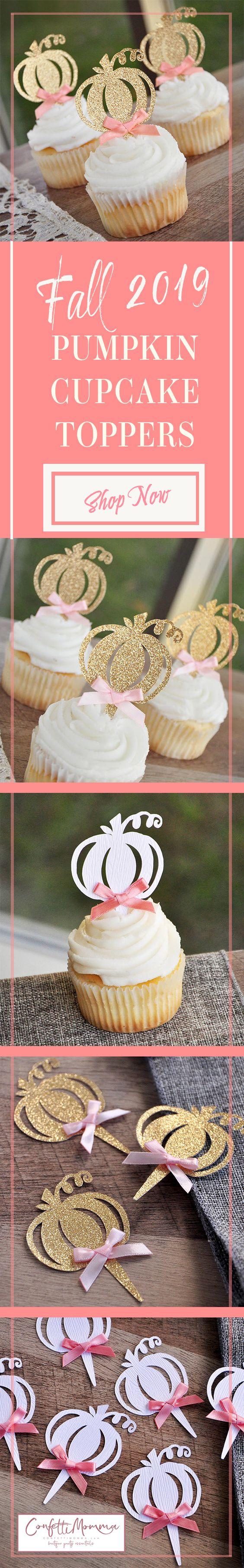 Food Picks Pumpkin Party Decor Pumpkin Themed Party Decor Pumpkin Cupcake Toppers Cupcake Toppers Little Pumpkin Themed Cupcake Topper