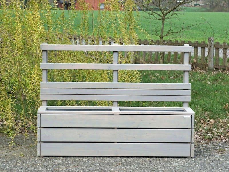 Pflanzkasten mit Rankgitter / Sichtschutz nach Maß (mit