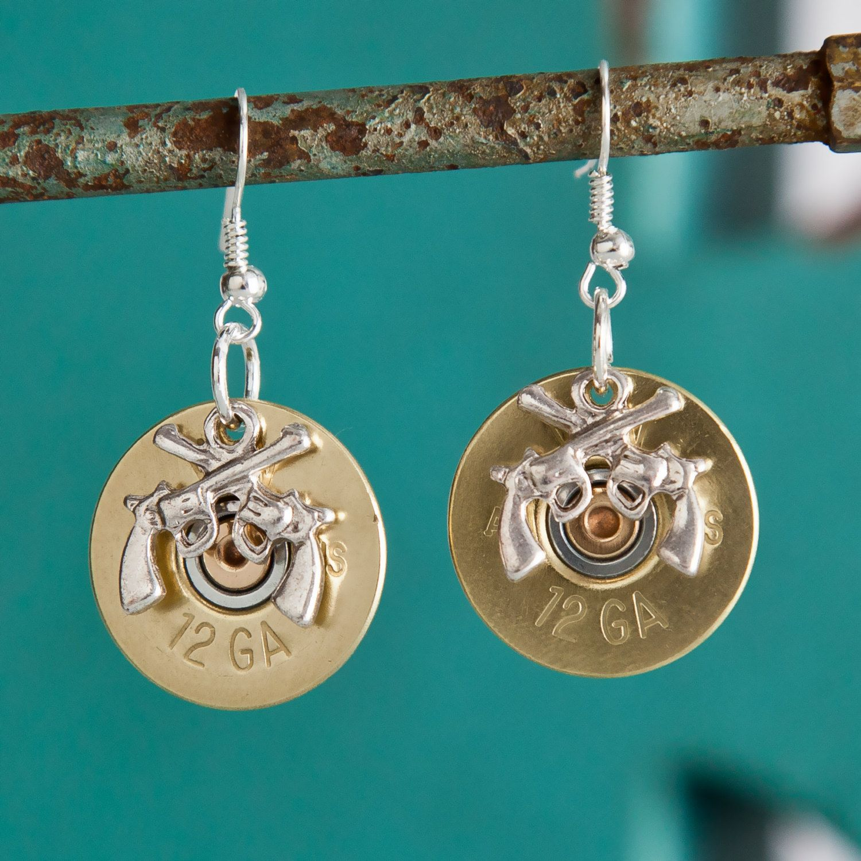 Bullet Earrings - Bullet Jewelry - Brass Winchester 12 ...