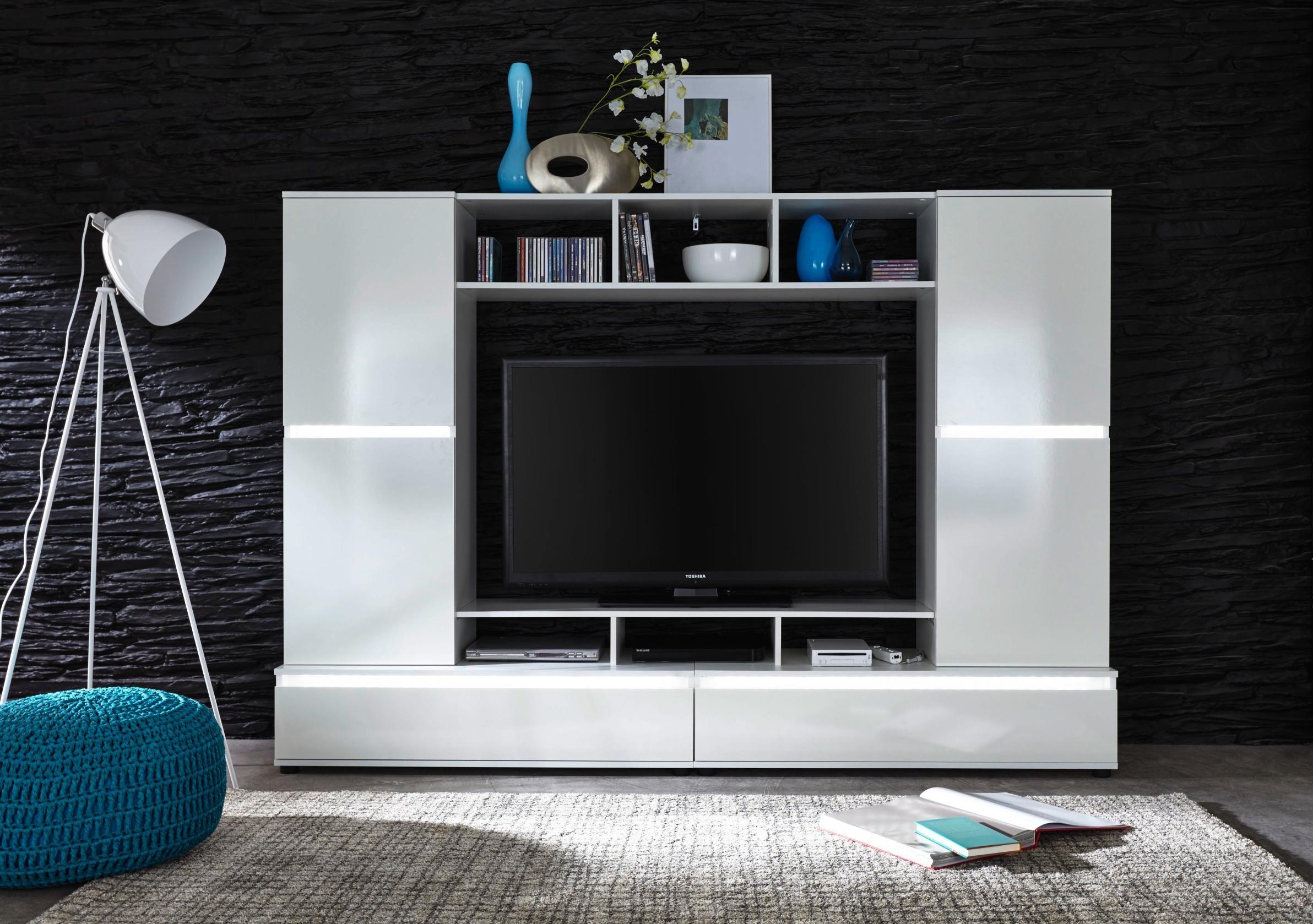 Charmant Geräumige Wohnwand In Weiß: Modernes Design, Das Begeistert