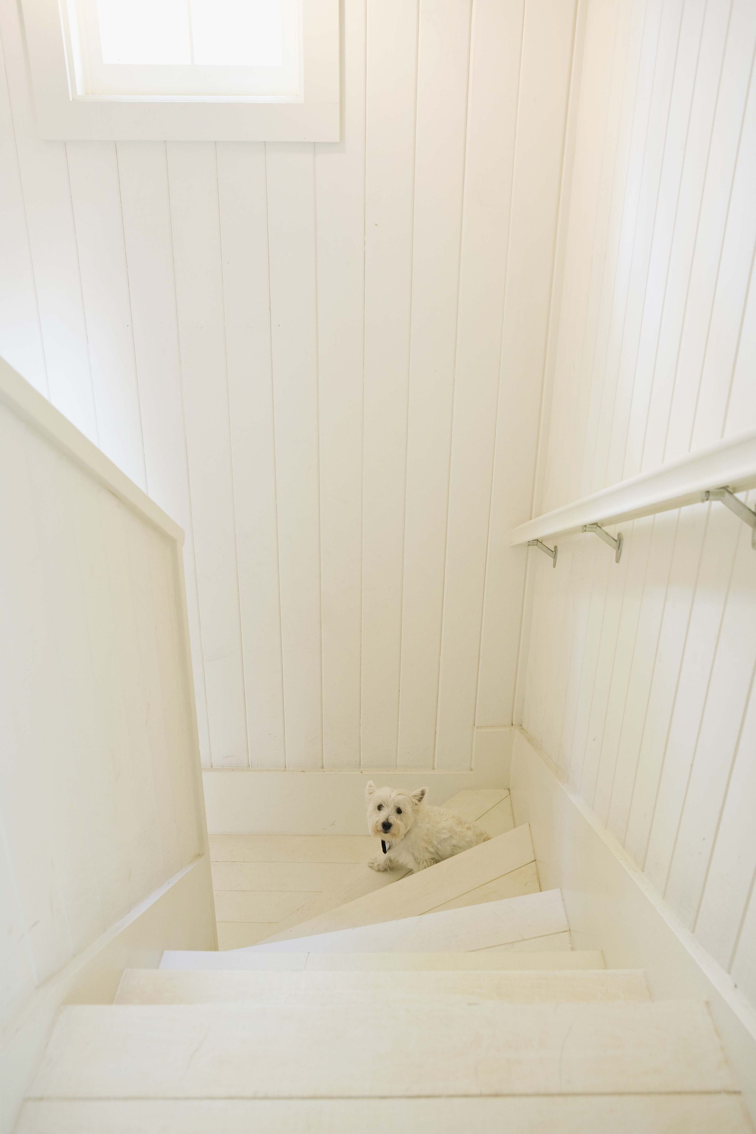 Wood Wax Finish 3188 Snow on the walls and panelling to match the ...