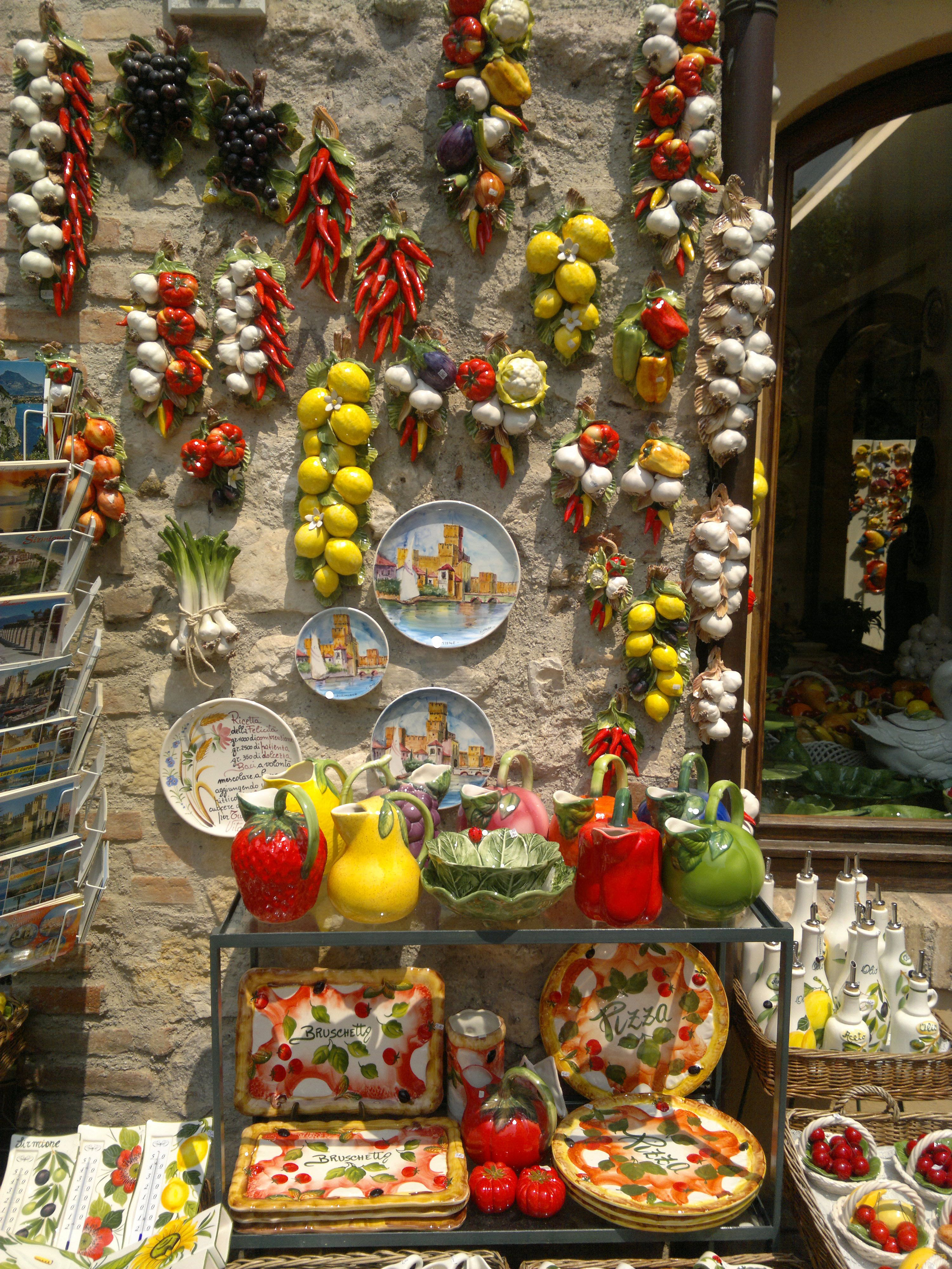 A funny little shop in Sirmione (http://www.venice-italy-veneto.com/holiday-on-lake-garda.html)