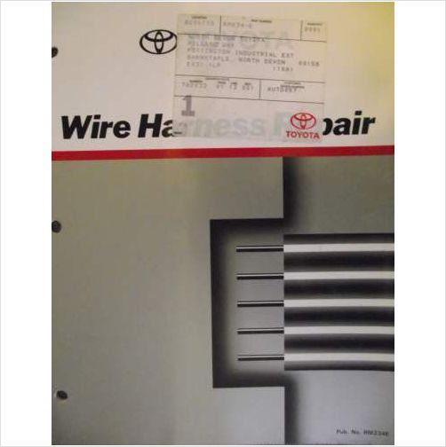afabfbd52f05d6cb391ccdd80a0107b7 toyota wire harness repair manual 1991 rm234e on ebid united toyota wire harness repair manual at gsmx.co