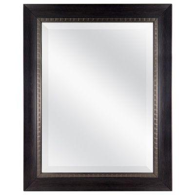 """MCSIndustries Cora Mirror Finish: Dark Walnut, Size: 29.5"""" H x 23.5"""" W"""