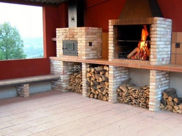 Tb barbacoa y horno de 640 480 decoracion for Ladrillos para barbacoa