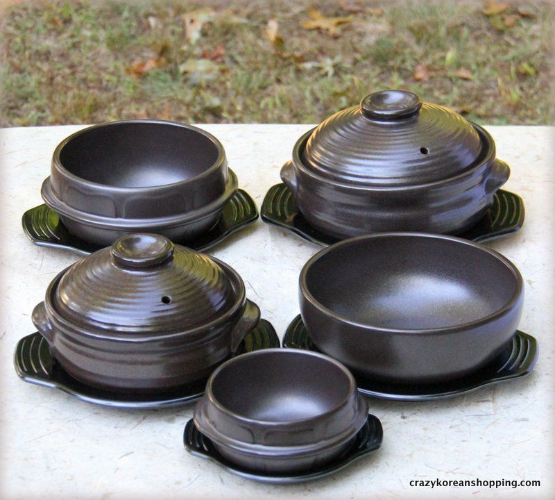 Beautiful Korean stoneware made from fine clay can elevate your dining expereince at home. You can purchase the stoneware at http://crazykoreanshopping.com/stone-bowl. The Bibimbap Bowl is great not only for sizzling dolsot (stone bowl) bibimbap but also any soup (Tang's) dishes such as spicy pork bone soup (Gam Ja Tang), beef short rib soup (Gal Bi Tang) and ginseng chicken soup (Sam Gye Tang).