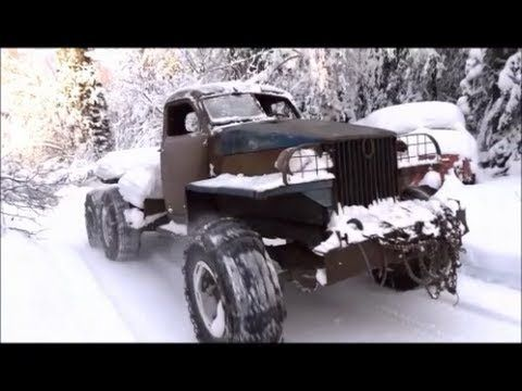 Dodge Truck Salvage Yards >> Old Trucks Winter Salvage Yard Youtube Power Wagon M37 Wc